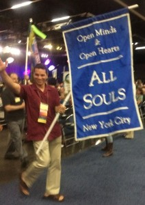 Victor hoists the banner of All Souls